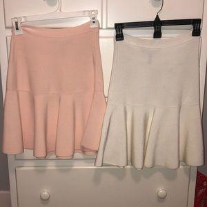 Two BCBG maxazria skirts